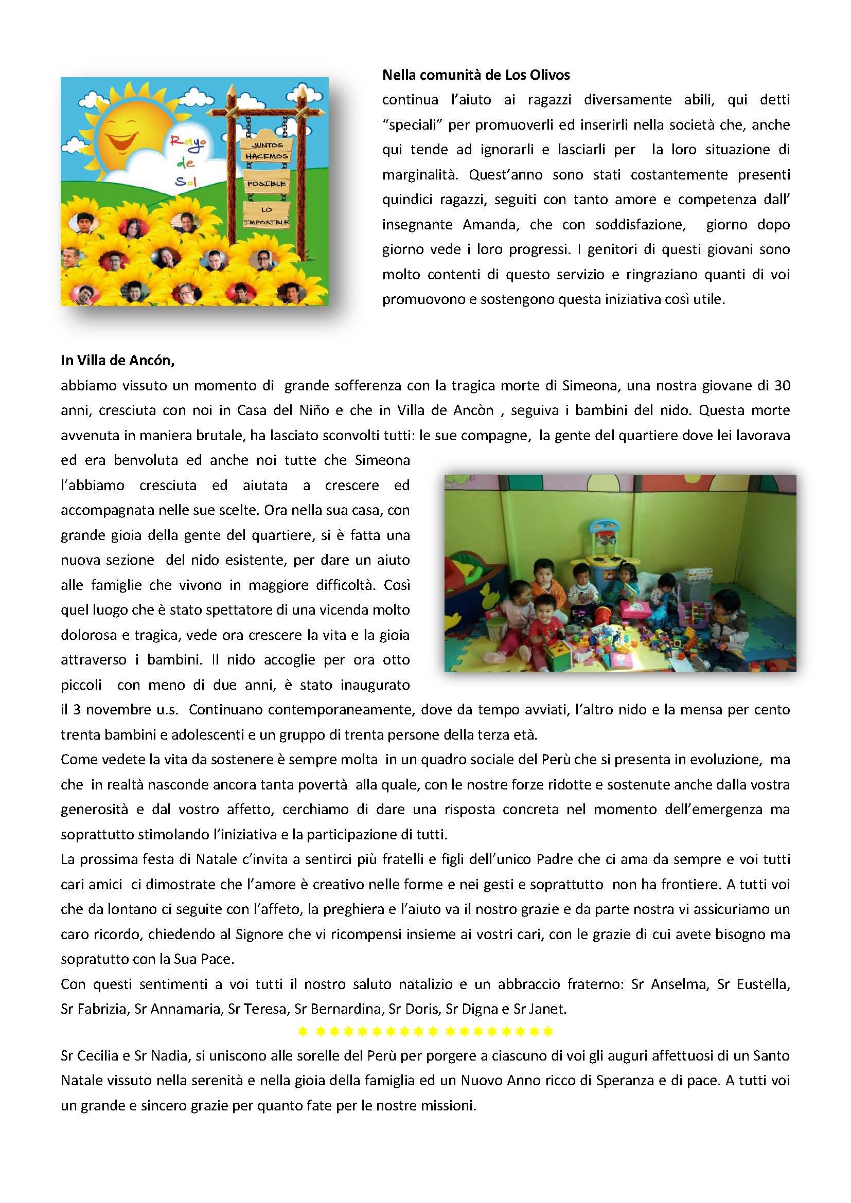 PERU LETTERA AMICI DICEMBRE 2017. 2_Pagina_2