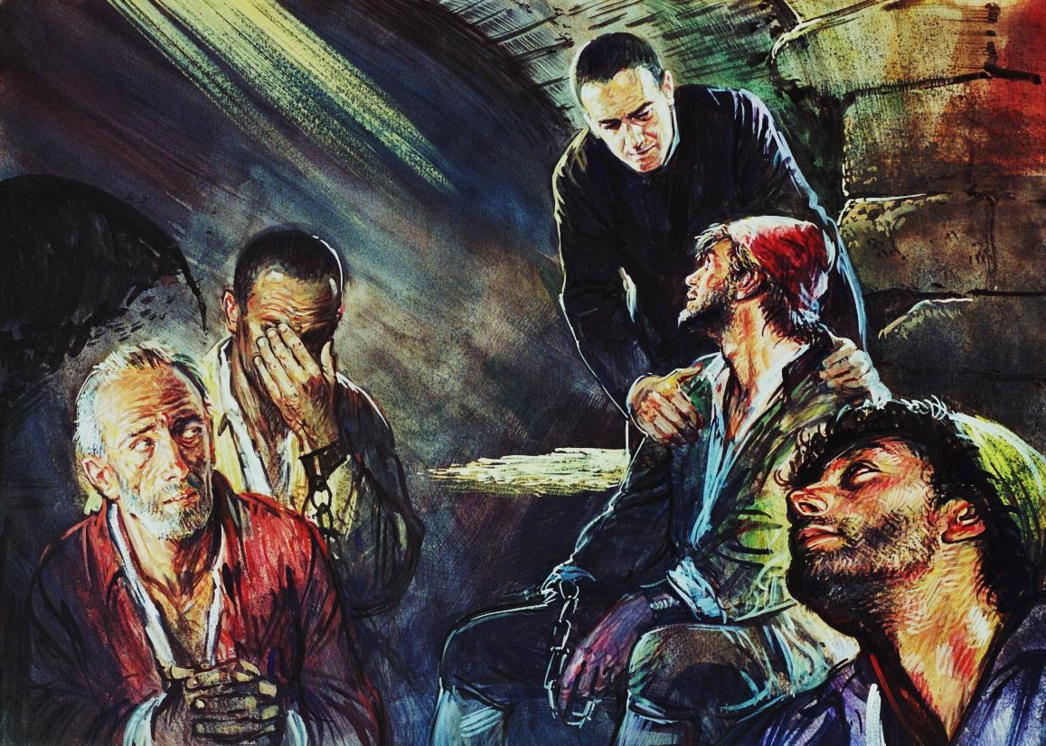 Don G. B. Quilici tra i detenuti del Bagno Penale della Fortezza Vecchia – C. Musio