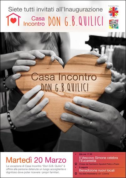 """Inaugurazione della Casa Incontro """"Don Giovanni Battista Quilici""""- martedi 20 marzo"""
